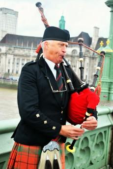 Bagpipes, London, England