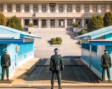 North/South Korea DMZ Border Guards 50 mm ISO 125 f/10 1/250