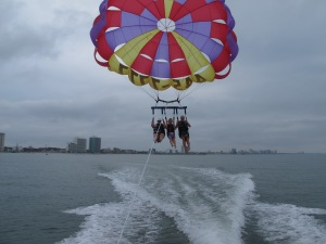 #parasailing, #Myrtle Beach, #South Carolina, #summer, #adventure, #bucket list