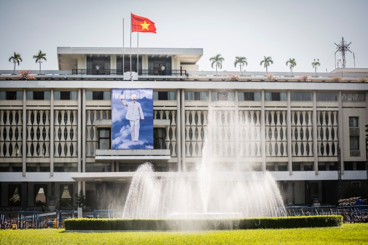 REUNIFICATION, PALACE, HO CHI MIN, SAIGON, VIETNAM