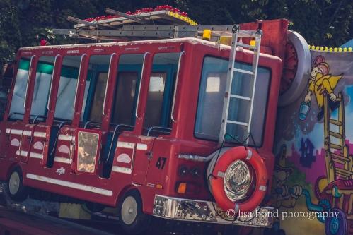Yongma Land, fire truck, Seoul