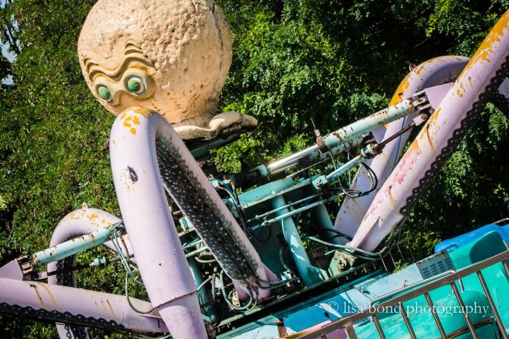 Yongma Land, octopus ride, Seoul