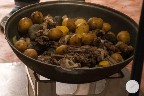 Mongolian lamb stew