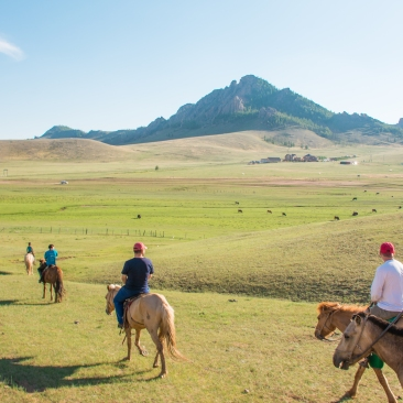 Terelj, Mongolia, National Park, horseback riding