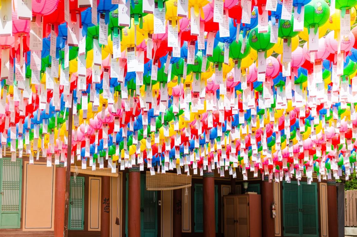 Bongeunsa, Buddha, Temple, lanterns