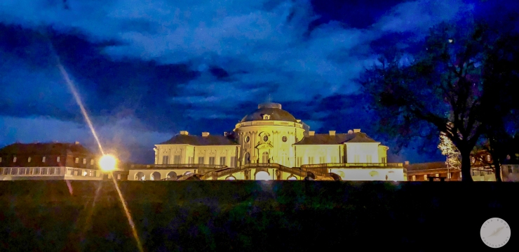 Schloss, palace, Solitude, night
